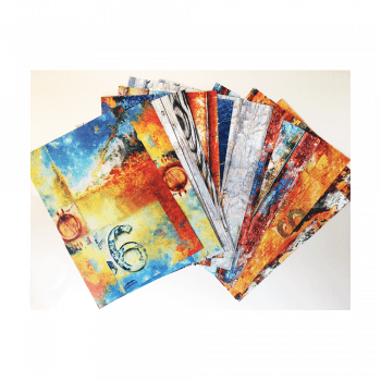 Crafty Individuals Twenty-four A5 Background Paper Sheets - 'Wonderfully Weathered 1'