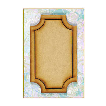 Must Haves - 'Decorative Laser Cut MDF Oblong Shaped Frame', 60mm x 100mm