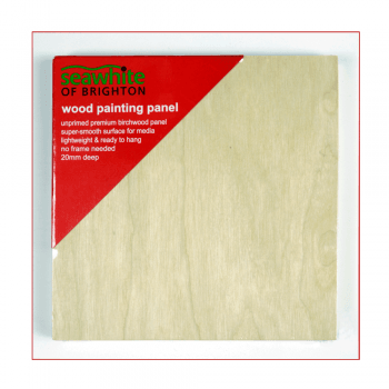 Seawhite of Brighton Must Haves - 'Smooth Wood Painting Panel 15cm x 15cm x 20mm deep'