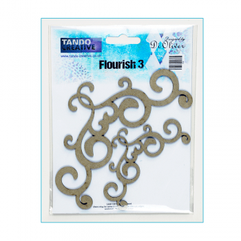 Tando Creative Must Haves - 'Flourish Set x 2, by Tando Creative', up to 150mm x 70mm