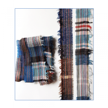 Must Haves - 'Blue, Red & Brown Woven Ribbon Trims', 30mm x 2 metres