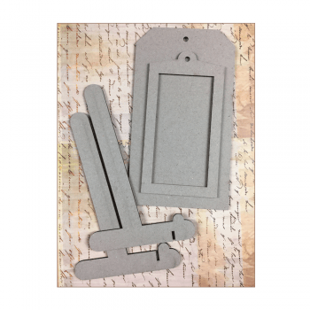 Crafty Individuals Must Haves - Size 10 Grey Tag, with Frame and Stand. 100mm x 180mm