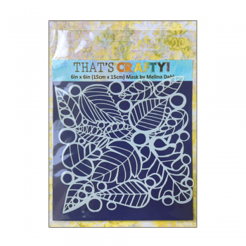 That's Crafty Must Haves - 'Mask, Leaves', 6in x 6in