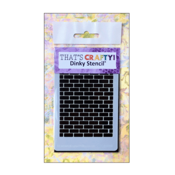 That's Crafty Must Haves - 'Dinky Stencil, Brick Background', 75mm x 120mm