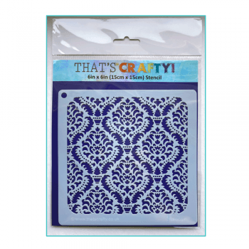 That's Crafty Must Haves - 'Stencil, Damask' 6in x 6in