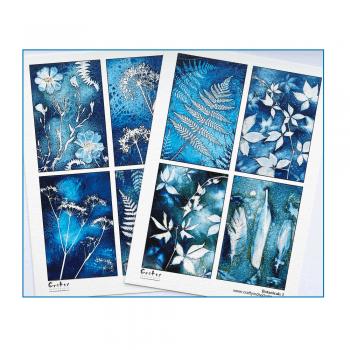 Crafty Individuals A5 Matt Sheets x 2 - 8 Themed Botanical Images