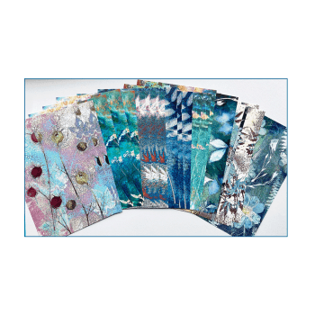 Crafty Individuals Twenty-four A5 Background Paper Sheets - 'Botanical Backgrounds'