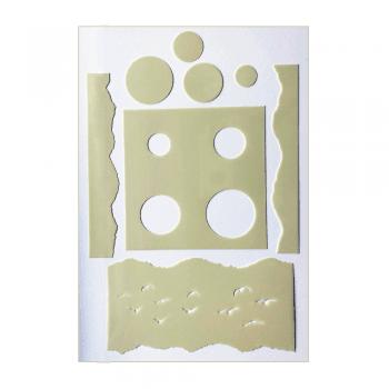 Crafty Individuals Craft Stencils - 'Landscape and Birds' Stencil, up to 160mm x 210mm