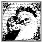 CI-136 - 'Christmas Santa Smiles' Art Rubber Stamp, 70mm x 70mm