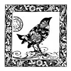 CI-180 - 'Venezia Bird' Art Rubber Stamp, 75mm x 75mm