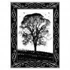 CI-181 - 'Winter Tree' Art Rubber Stamp, 67mm x 90mm