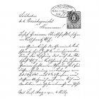 CI-214 - '1893 Script' Art Rubber Stamp, 62mm x 90mm