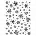 CI-241 - 'Snowflakes Background' Art Rubber Stamp, 70mm x 80mm