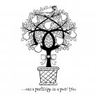 CI-268 - 'Partridge in a Pear Tree' Art Rubber Stamp, 65mm x 100mm