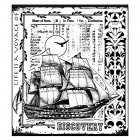 CI-295 - 'Voyage of Discovery' Art Rubber Stamp, 82mm x 92mm