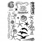 CI-272 - 'Seaside Treasures' Art Rubber Stamps, 96mm x 137mm
