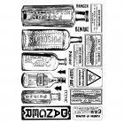 CI-360 - 'Poison and Danger' Art Rubber Stamps, 96mm x 137mm