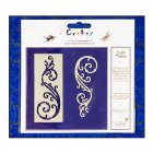 Craft Masks - 'Elegant Swirls' Masks (x 2 designs per pack), up to 35mm x 95mm approx
