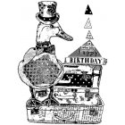 CI-433 - 'Jolly Duck' Art Rubber Stamp, 72mm x 98mm
