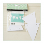 Must Haves - 'Pack of 10 Small White Card Bunting/Flags' 80mm x 95mm