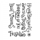 CI-464 - 'Everyday Curly Words' Art Rubber Stamps, 96mm x 137mm