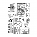 CI-469 - 'More Vintage Ephemera' Art Rubber Stamps, 96mm x 137mm