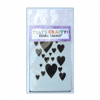 Must Haves - 'Dinky Stencil, Hearts', 75mm x 120mm