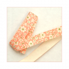 Must Haves - 'Peach Floral Cotton Ribbon Trim', 15mm x 1 metre