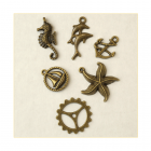 Must Haves - '8 Seaside Bronze Gold Charms', up to 20mm x 30mm