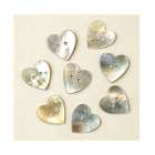Must Haves - 'Natural Shell Heart Shaped Buttons', 15mm x 15mm