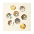 Must Haves - 'Natural Shell Round Shaped Buttons', 10mm x 10mm
