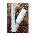 Must Haves - 'White Cotton Lace Trim' 20mm x 1 metre