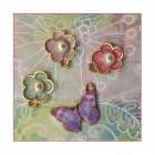 Must Haves - '4 Enamelled and Gold Flower and Butterfly Charms', 20mm x 15mm