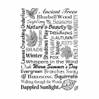 CI-487 - 'Woodland Words' Art Rubber Stamp, 70mm x 100mm