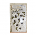 Must Haves - 'Jessica Moon Light Paper Flowers', 14 pcs, up to 40mm