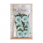Must Haves - 'Jessica Green Blue Veil Paper Flowers' 12 pcs, up to 40mm