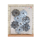 Must Haves - 'Serenade Grey Sky Paper Flowers', 8 pcs, up to 40mm