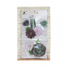 Must Haves - 'Succulent Meadow Paper Flowers', 4 pcs, up to 90mm