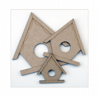 Must Haves - '3 Laser Cut MDF Birdhouses' up to 100mm x 100mm