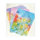Eight A4 Background Paper Sheets - 'Seaside Whispers'