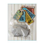 Must Haves - 'Greyboard Keyring Tags x 5, with Ballchain and Connector', up to 55mm x 80mm