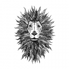 CI-524 - 'Lion King' Art Rubber Stamp, 96mm x 137mm