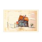 'Polperro House', A4 Size Print by Sharron Bates