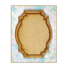 Must Haves - 'Decorative Laser Cut MDF Oblong Shaped Frame', 75mm x 95mm