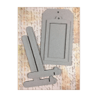 Must Haves - Size 10 Grey Tag, with Frame and Stand. 100mm x 180mm