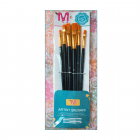 Must Haves - Tools - '6 Assorted Flat Brushes', Polyamide, in Varying Sizes