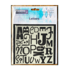 Must Haves - 'Stencil, Letters' 6ins x 6ins