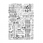 CI-573 - 'Counting Down' Art Rubber Stamp, 94mm x 134mm