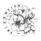 CI-586 - The Circle of Latitudes' Art Rubber Stamp, 99mm x 90mm