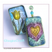 Crafty Individuals CI-342 - 'Delicately Detailed Hearts' Art Rubber Stamps, 96mm x 137mm